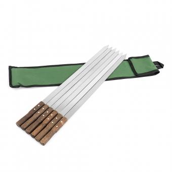 BEM Adana Grillspieße mit Holzgriff - 6 Stück aus Edelstahl